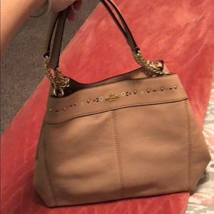 Embroidered Coach Tote Bag